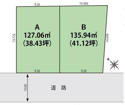 寺尾朝日通2区画(区画図) 2